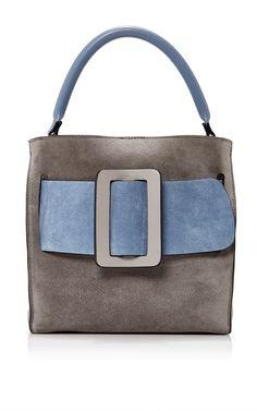 Colorblock Suede Devon Bag by BOYY Now Available on Moda Operandi