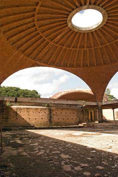 Vittorio Garatti – School of Ballet, Escuela Nacional de Arte 027 Arch Building, Building Structure, National Art School, Gazebo, Pergola, Brick Laying, Solid Brick, Brick Construction, Adobe House