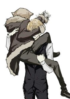 Oh Izaya, getting taken away by Shizuo. I just find this funny with Izaya swinging his blade around like that