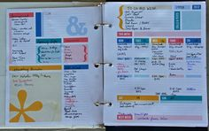 Life Organizer/Day Planner 2013 - love this idea and all the color