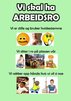 Ida_Madeleine_Heen_Aaland uploaded this image to 'Ida Madeleine Heen Aaland/Plakater -regler-'. See the album on Photobucket. Classroom Attention Grabbers, Norway Language, Montessori Classroom, Too Cool For School, Classroom Management, Kindergarten, Preschool, Parenting, Teacher