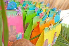 Hawaiian Party Loot Bags
