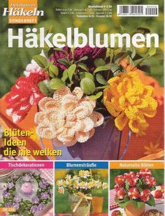 """MAGAZINE: """"Crochet Flowers"""" with diagrams"""