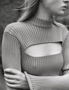 Cutout Sweater - contemporary knitwear details // Ph. Theo Sion forThe Gentlewoman Fall 2015