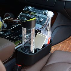 Intelligent Portable Multifunctional Universal Car Drink Holder Auto Beverage Cup Holder Folding Sofa Beach Chair Side Drink Bottle Cup Carefully Selected Materials Interior Accessories