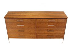 Paul McCobb for Calvin Double Dresser | From a unique collection of antique and modern dressers at https://www.1stdibs.com/furniture/storage-case-pieces/dressers/