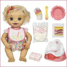 """Playing """"mommy"""" is more fun than ever with BABY ALIVE the doll that """"eats"""" and """"poops"""" just like a real baby! Description from amazon.mk. I searched for this on bing.com/images"""