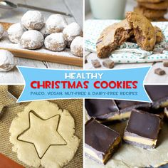 Healthy Christmas Cookie Recipes via Detoxinista Healthy Sugar Cookies, Sugar Cookies Recipe, Healthy Sweets, Low Sugar Cookies, Healthy Holiday Recipes, Real Food Recipes, Cookie Recipes, Dessert Recipes, Healthy Christmas Cookies