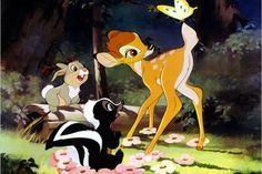 "First released in 1942, ""Bambi"" showed an evolution in Disney animation because the studio created an on-site zoo so artists could study animals & draw more realistic characters. The movie's themes of nature conservation helped raised awareness of fire prevention (& ultimately led to the creation of Smokey the Bear), while the heartbreaking death of Bambi's mother spurred public interest in animal rights issues.  —Xfinity Entertainment Staff (Photo: Disney)"