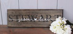 Rustic sign last name sign personalized sign wooden sign