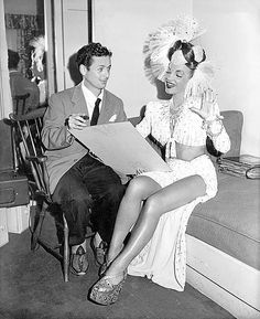 Costume designer Sascha Brastoff and Carmen Miranda, empireoftheimage flickr