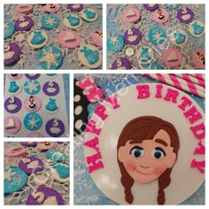 ANNA Frozen Inspire Cupcake and CakeTopper. Edible by anafeke