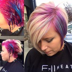 Awesome color by @hairbyshandel #pravanalockedin #haircolor #funhair #hair #love #amazing