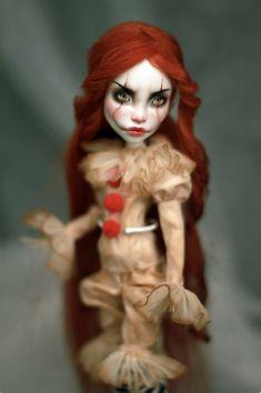 by Kowka51rDoll on Etsy Custom Monster High Dolls, Custom Dolls, Ems, Creepy, Pretty Dolls, Disney Characters, Fictional Characters, Poster, Reading