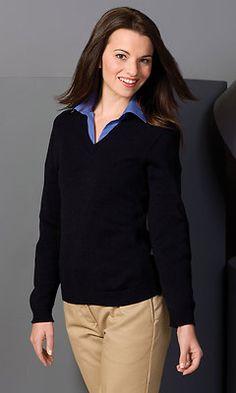 3fd579bc07 Edwards Garment Women s Casual Long Sleeve V Neck Winter Sweater XS-3XL. 465