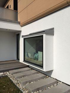 Sitzecke im Fenster # imSchöne Coin salon à la fenêtre House Windows, Windows And Doors, House Front, My House, Bay Window Exterior, Modern Windows, House Extensions, Window Design, Apartment Interior