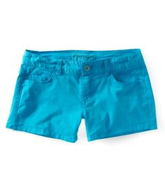 Bright blue shorts (Coloured shorts are in style this summer!)
