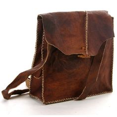 Leather bag vintage / hippie style 39.99 € #LOVEthis