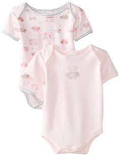 ABSORBA Baby-Girls Newborn G Baby Elephant Body Suit Set, Pink, 3-6 Months