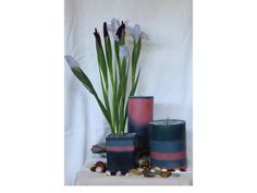 3 soy wax scented candles cylinder 5x4 by BusyBeeArtBoutique, $23.00