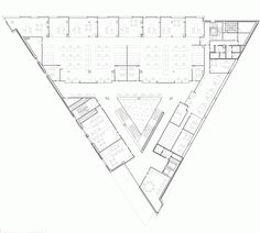 Gallery of Tudela Courts / Otxotorena – 8 – Hana - Diy Techniques Triangular Architecture, Form Architecture, Library Architecture, School Architecture, The Plan, How To Plan, School Floor Plan, Office Building Plans, Hana