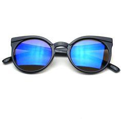 d0431e41ab Super Trendy Mod Circle Round Keyhole Flash Revo Cat Eye Sunglasses  Sunglasses Shop