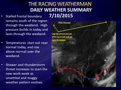 Friday 7/10/2015 Weather & Raceday Forecasts now available at racingwxman.weebly.com