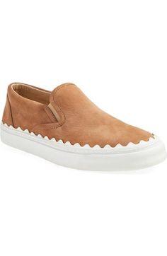 CHLOÉ 'Ivy' Scallop Slip-On Sneaker (Women). #chloé #shoes #