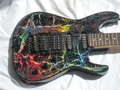 """1989 Kramer Pacer Custom 2 in """"Holocrackle"""" finish  - the colors are not painted on, they are """"Holoflash"""""""
