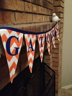 A darling addition to the tailgate tent! Game day tailgating banner from EmeryandEaston (via Etsy)--based in Winter Park, Florida.