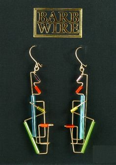 BAR6937 Barb Wire Earrings - Click Image to Close