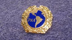 Rare 1940s to 50s IDd Pan Am PAA AIrlines Uniform Hat badge