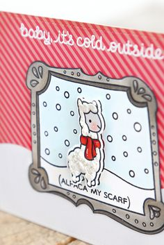 santa's belly and winter alpaca {lawn fawn inspiration week}