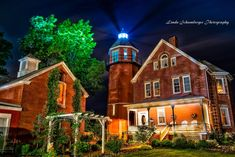 The lighthouse was established and lit in 1896 and was deactivated in 1954. The lighthouse was constructed out of red brick, with an octagonal tower. Photo Courtesy of Linda Scalise Schamberger (All rights reserved)