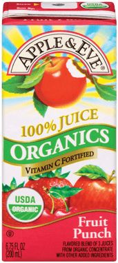 Apple & Eve Organics Fruit Punch is a 100% juice blend of luscious, organic cherry, strawberry and apple juice, is total refreshment and sure to become a family favorite