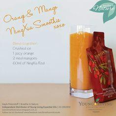 Young Living Essential Oils: Orange Mango Ningxia Smoothie Recipe