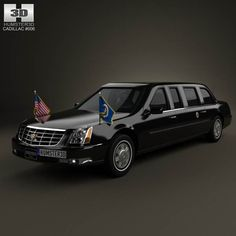 Cadillac DTS Limousine 2005 3d model from humster3d.com. Price: $75