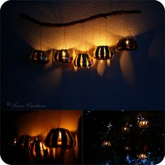 Liene Creations: How to make recycled lanterns of soda/ beer cans