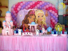 Decoração infantil Barbie Castelo de Diamantes  * Decoração de festa infantil