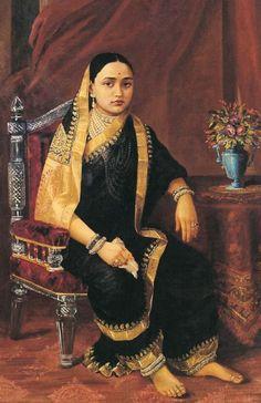 Raja Ravi Varma, Maharani Chimanbai (younger age). Shrimant Lakshmibai Mohite (1871–1958)