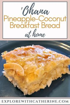Aside from seeing my pal Mickey, the pineapple-coconut breakfast bread was definitely the highlight of my breakfast at 'Ohana. Now that we're home for the unforeseeable future, we decided to attempt to make this delicious treat at home. Disney Themed Food, Disney Inspired Food, Disney Food, Disney Recipes, Disney Desserts, Disney Diy, Disney Stuff, Pineapple Coconut Bread, Coconut Recipes