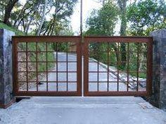 metal driveway gate on slope design - Google Search