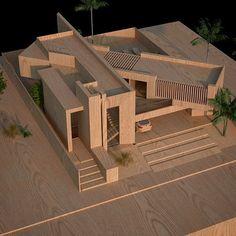 Maquette Architecture, Architecture Design, Architecture Model Making, Architecture Concept Drawings, School Architecture, Residential Architecture, Appartement Design, Arch Model, Building Design