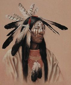 Native American Indian Portrait paintings