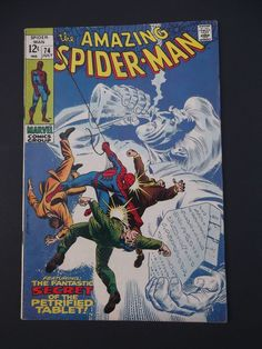 Amazing Spider-Man #74! Silver Age! 1969! Silvermane! Maggia! Marvel! Stan Lee!