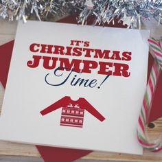 Christmas Jumper Time Christmas Card