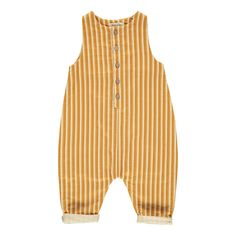 Striped Jumpsuit Ochre Rylee + Cru Baby Children- A large selection of Fashion on Smallable, the Family Concept Store - More than 600 brands.