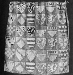 14th century Swiss embroidered bag