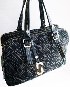 Gianni Versace Versus Black Bag Satchel by loveusati on Etsy