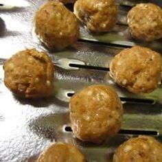 Italian Turkey Meatballs - Allrecipes.com